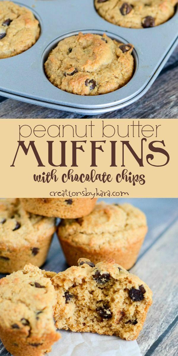 Rezept für Erdnussbutter-Muffins mit Schokoladenstückchen – ein einfaches, leckeres … – #e…