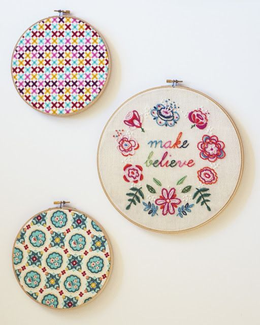 [free embroidery pattern] make believe. Nx