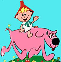 Tom Terrific and Mighty Manfred the Wonder Dog - part of the Captain Kangaroo show.