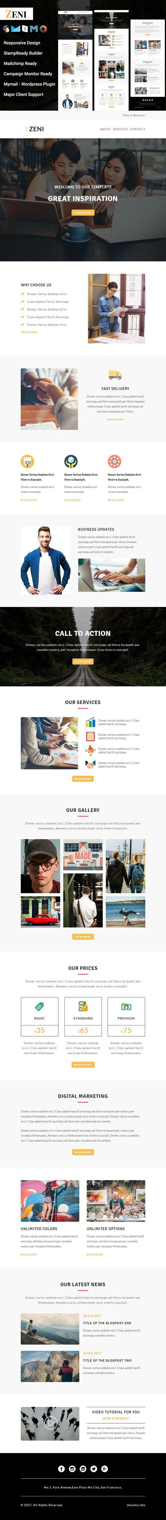 Zeni - Responsive Email Template. Email Templates