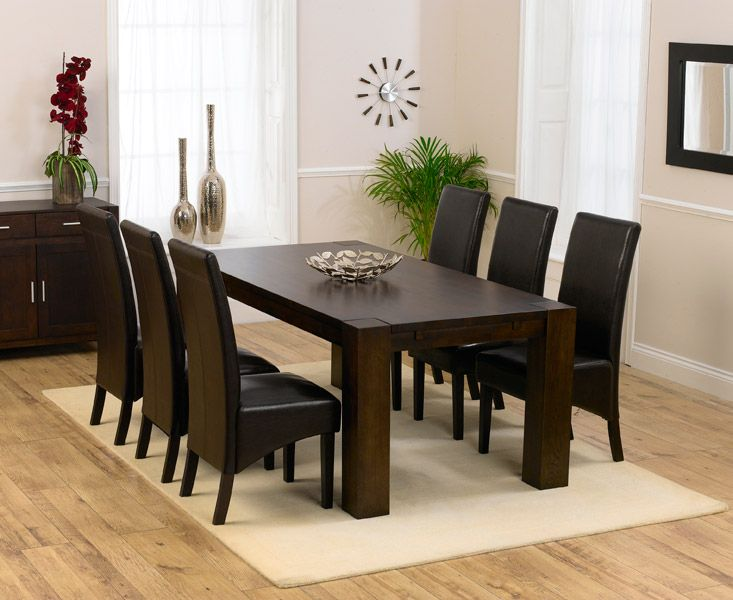 17 Best Ideas About Dark Wood Dining Table On Pinterest
