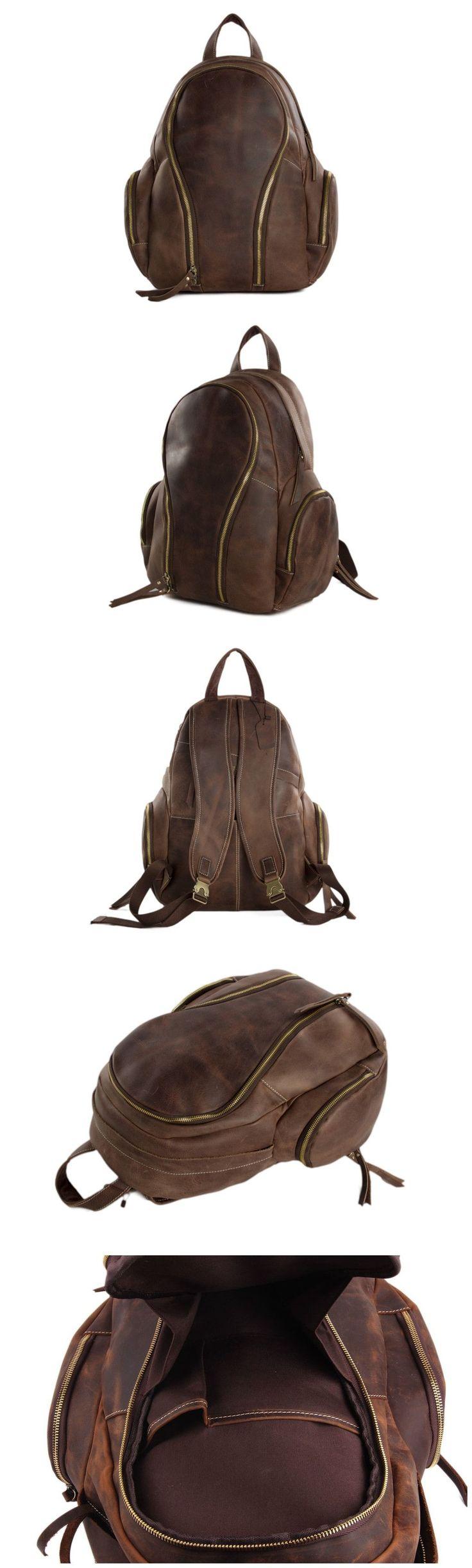 Genuine Leather Backpack /Travel Backpack /Laptop Bag School Backpack  http://ebagsbackpack.tumblr.com/