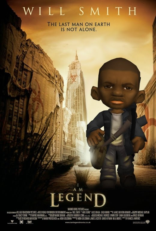 "Will Smith (or someone similar xD) 3D low poly character. Based on the film ""I am Legend"""