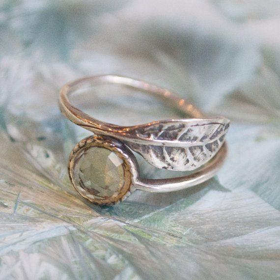 Citrien ring stenen ring stapel ring dunne ring door artisanlook