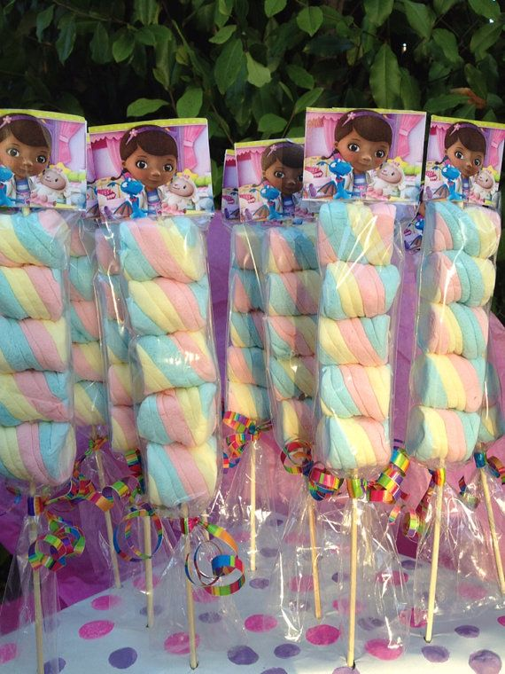 Doc McStuffins Marshmallows Party Favors