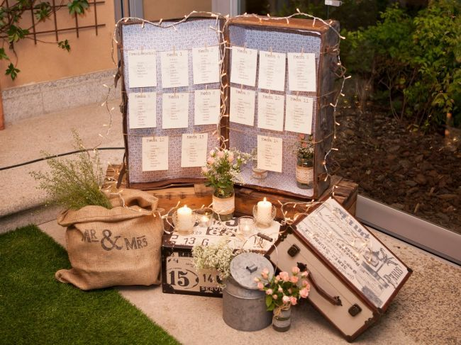 Dépoussiérez vos vieilles malles et créez un superbe décor pour votre mariage ! Image: 17