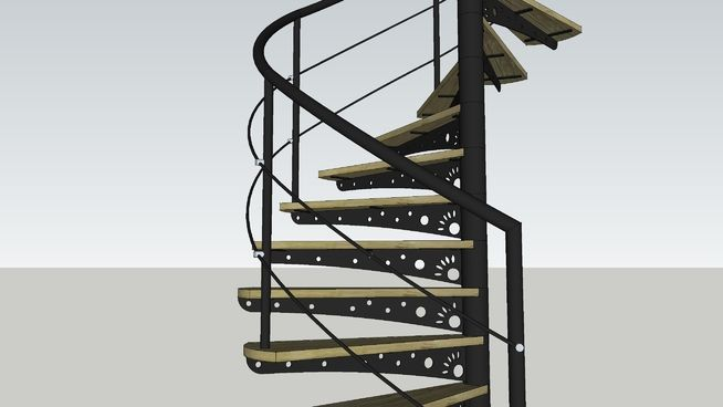 Best Large Preview Of 3D Model Of Spiral Staircase Có Hình Ảnh 640 x 480
