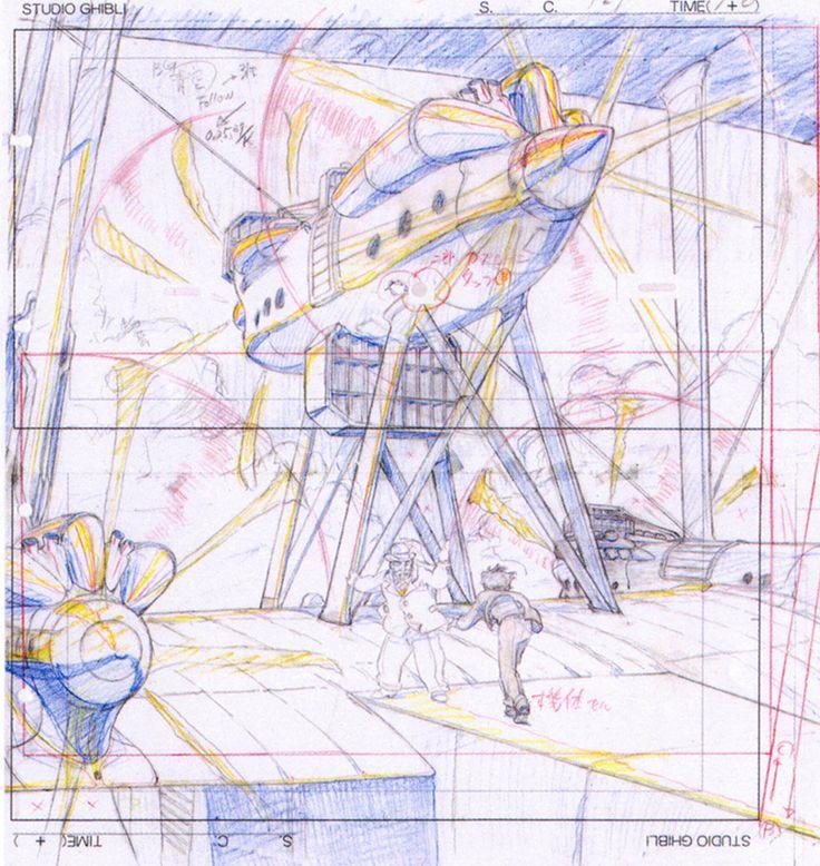 artbooksNAT | Animation layouts from Hayao Miyazaki's The Wind...