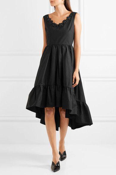 Fendi | Appliquéd cotton-taffeta midi dress | NET-A-PORTER.COM