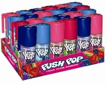 Fruit Frenzy Push Pop Single .5 Oz - 24 Units
