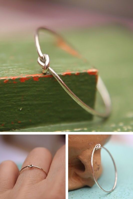 Single Love Knot Ring. // I don't need a big diamond, this type of ring would be just as good :D