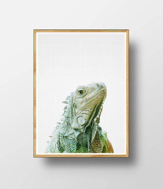 print art lizard