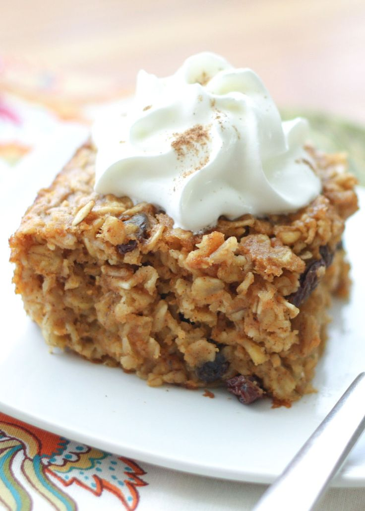 Pumpkin Spice Baked Oatmeal Recipe by Barefeet In The Kitchen