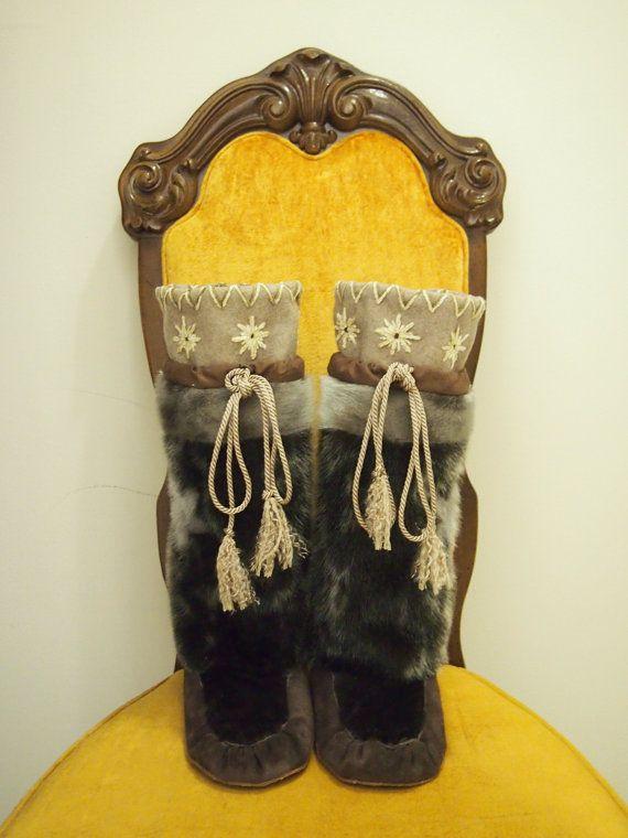 Native seal skin fur mukluks / Inuit kamiks on Etsy, $512 ...
