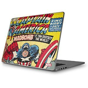 Amazon.com: Marvel Comics Captain America - Skin for Macbook Pro 15 (2011): Computers & Accessories