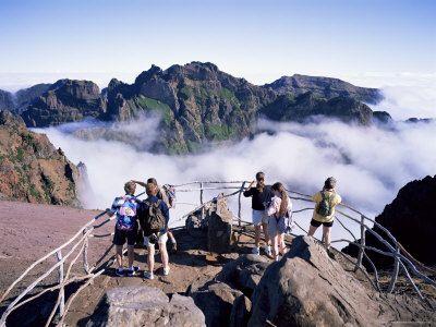 Pico do Areeiro, highest point on Madeira, climbed by Debbie Ditch Winter '93.