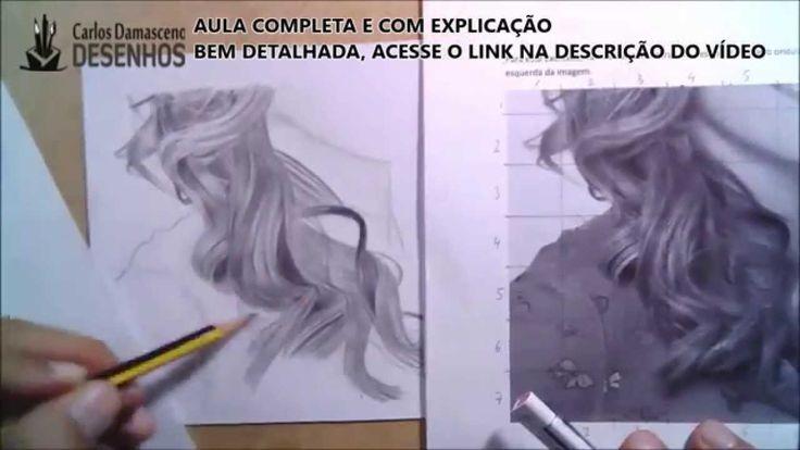 Carlos Damasceno desenhando um cabelo loiro realista Curso O Segredo do desenho De Retratos a Lápis http://comoaprenderadesenhar.com.br/