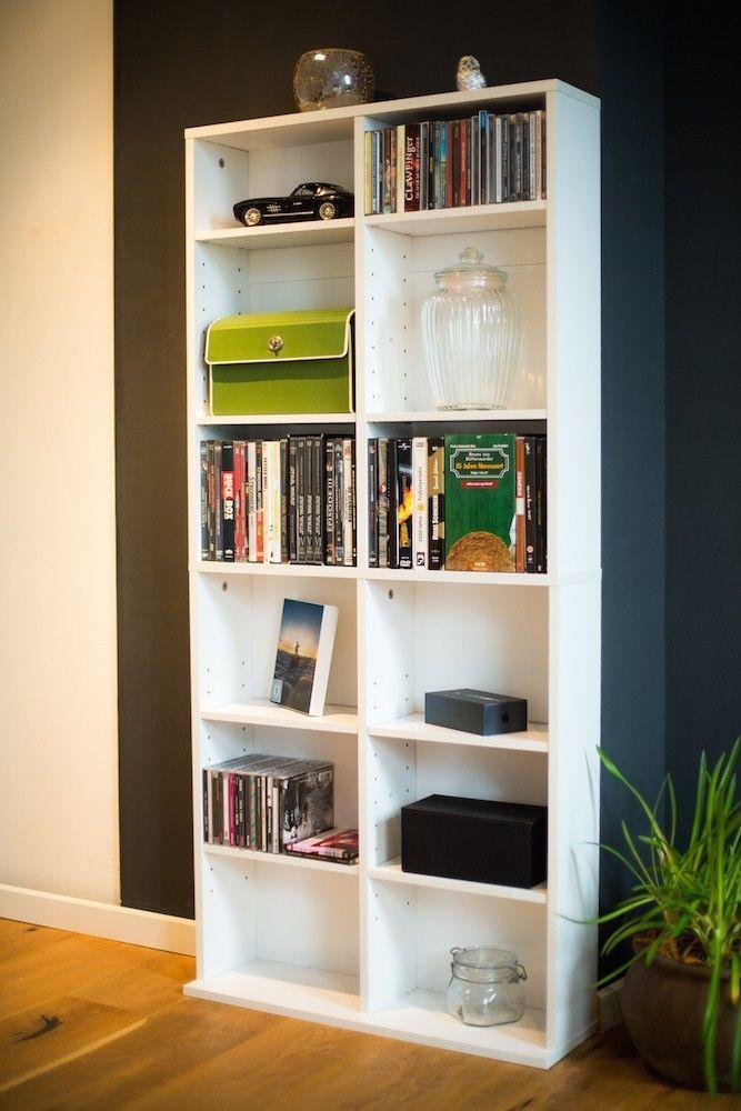 CD DVD Blu-ray Regal Medienregal Raumteiler 464 CDs oder 228 DVDs in weiss