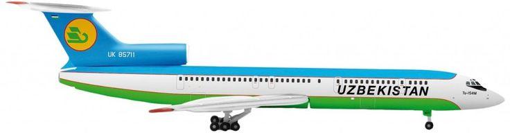 Herpa Uzbekistan Airways Tupolev TU154M 1/500