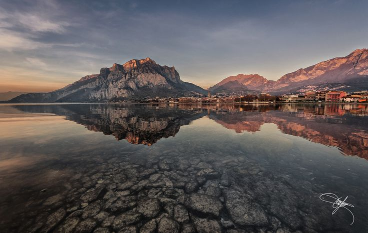 Malgrate (Lecco - Italy) - sunset - When winter is marching on