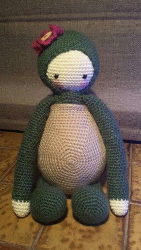 Krissie de schildpad.  Patroon is van Kristel Droog