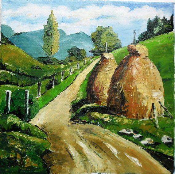 Art  Oil Painting  Original Painting Summer in by kezulegsajat