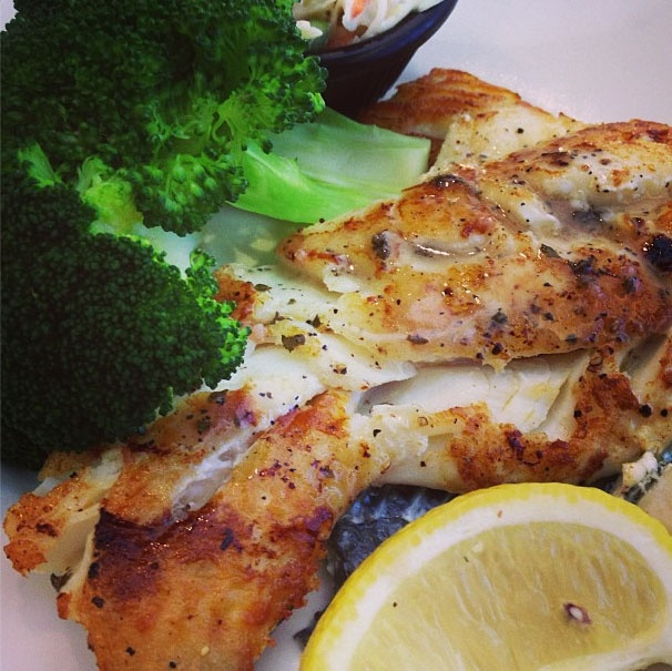 Wood grilled haddock: pure and simple.