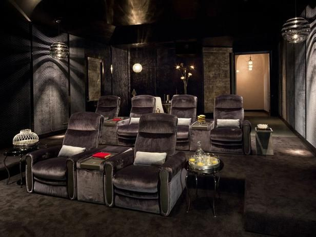 Cozy, Glam Home Theater