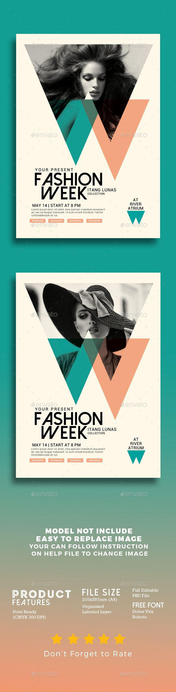 Fashion Week Flyer Template PSD