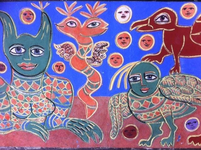 Mirka Mora mural at Flinders Sreet Station - So Mirka, So Melbourne.   by Mandeburg Style