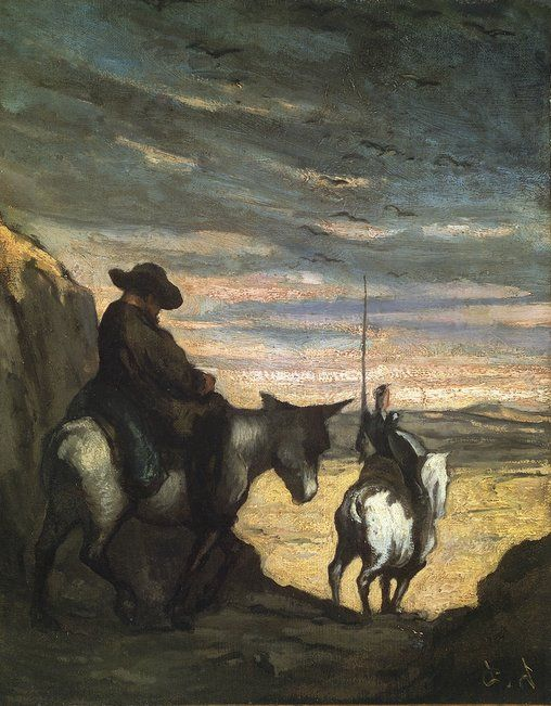 Don Quixote and Sancho Panza, by Honoré Daumier