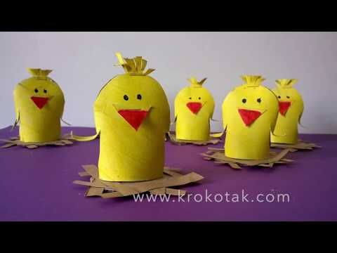 PAPER ROLL SPRING CHICK  | krokotak