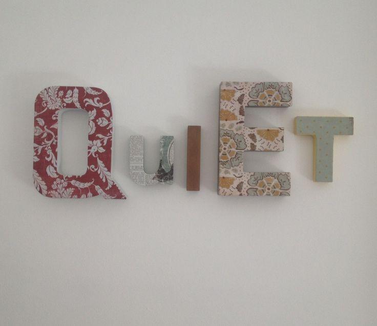 Les 25 meilleures id es concernant lettres murales d coratives sur pinterest mur lettrage for Plaques decoratives murales