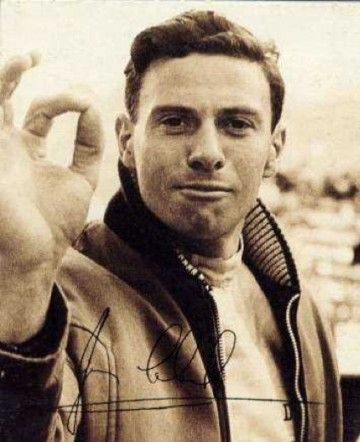 Jim Clark. His feature here; http://www.in2motorsports.com/jim-clark/  They should make a movie on his life and cast Michael Fassbender in the lead role. That would be perfect.
