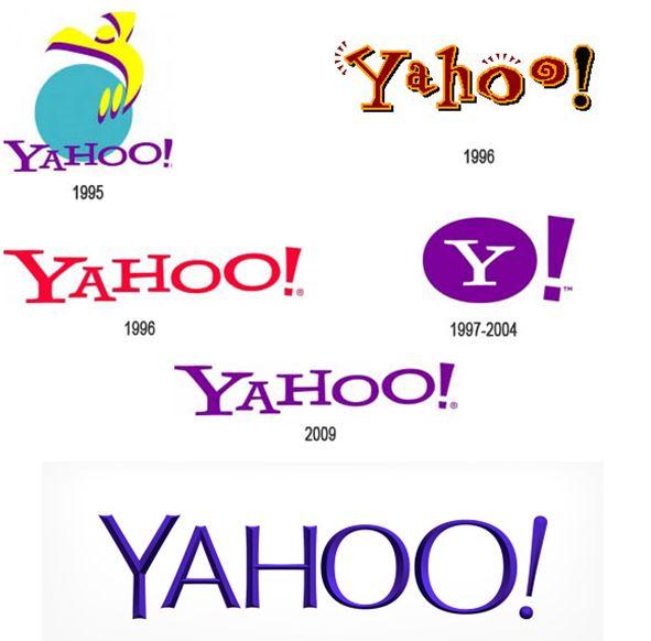 The evolution of the #Yahoo logo