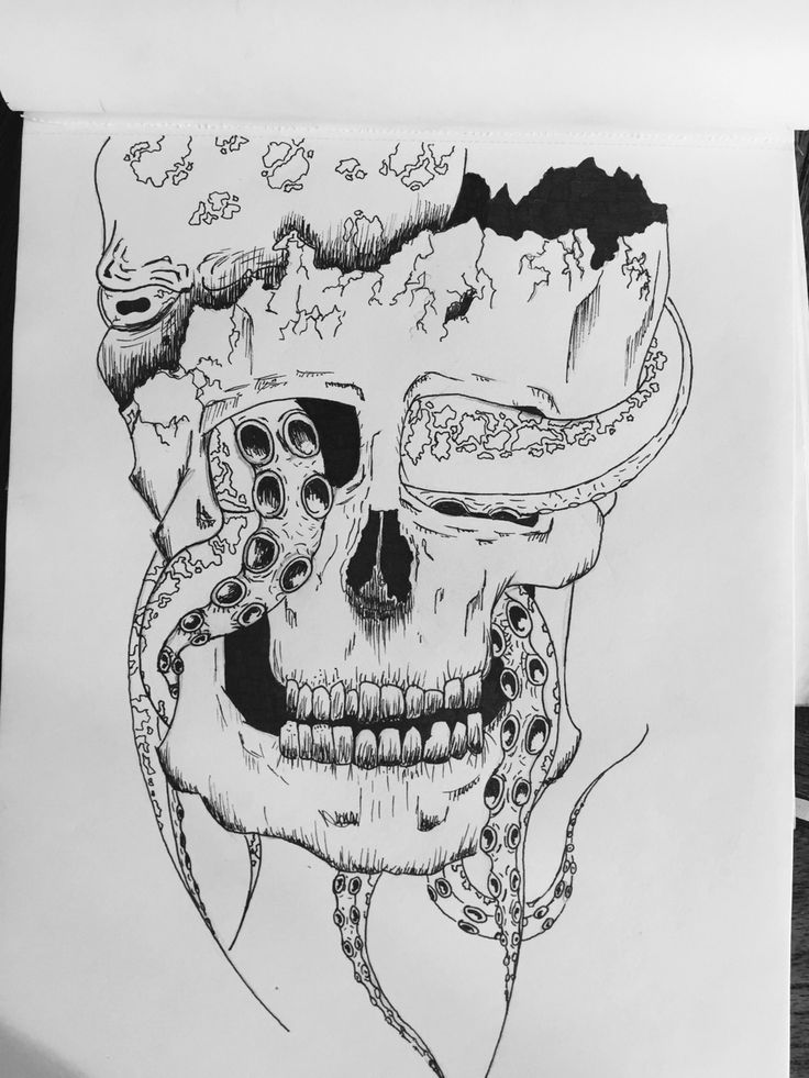 Infected skull