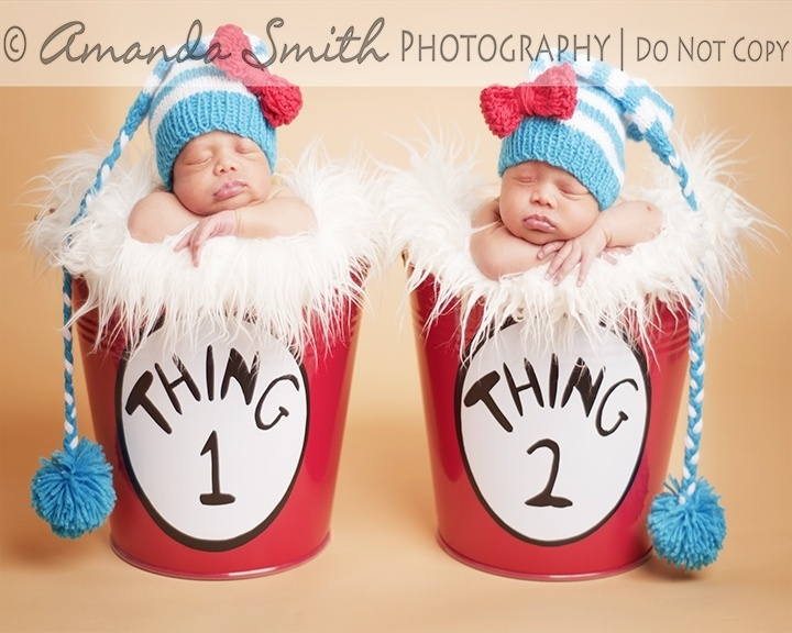 thing 1 and thing 2 newborn photography