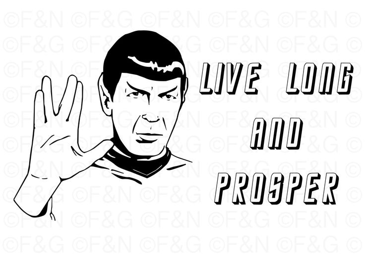 SPOCK LLAP Printable Poster - 70x50 cm, Star Trek, TOS, Live Long and Prosper, Leonard Nimoy, Wall decor, Digital Poster, Artwork - di TheEmporiumOfWonders su Etsy