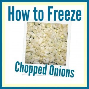 how to freeze onions for later use