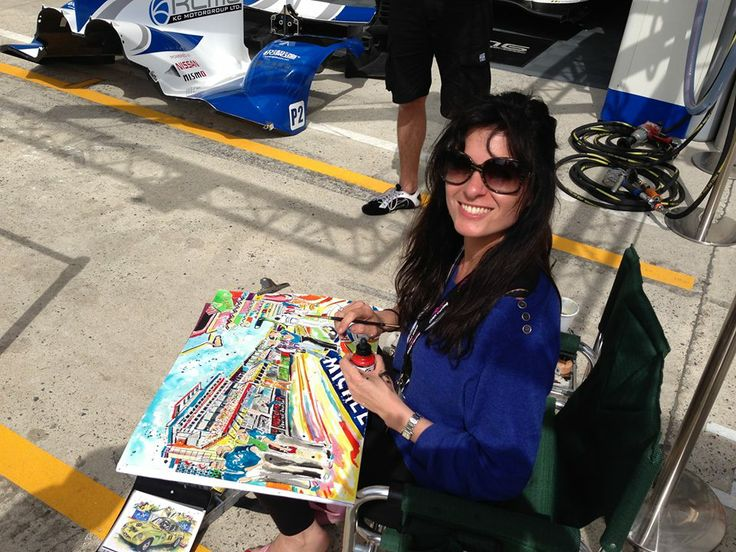 Painting at Le Mans in 2013