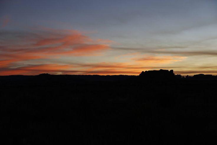 Couché de soleil sur The Needles, Canyonlands National Park, Utah