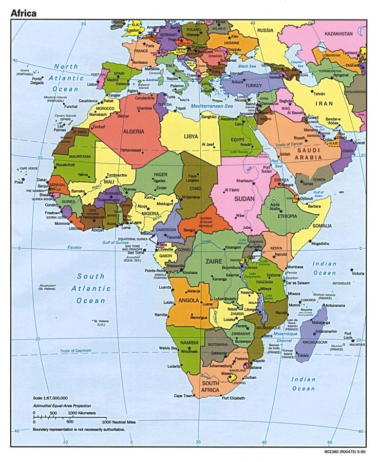 Map Of Africa Update Here Is A 2012 Political Map Of Africa That Includes The World