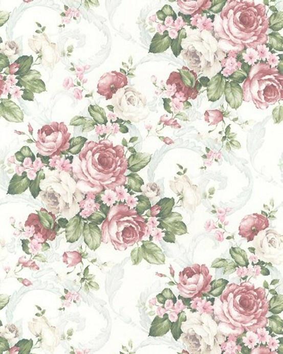 Vintage flower pattern | Floral wallpaper, Vintage flowers ...