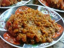 Moroccan Zaalouk Recipe - Eggplant and Tomato Cooked Salad.  So yummy, even my husband liked it and he doesn't eat many veggies.