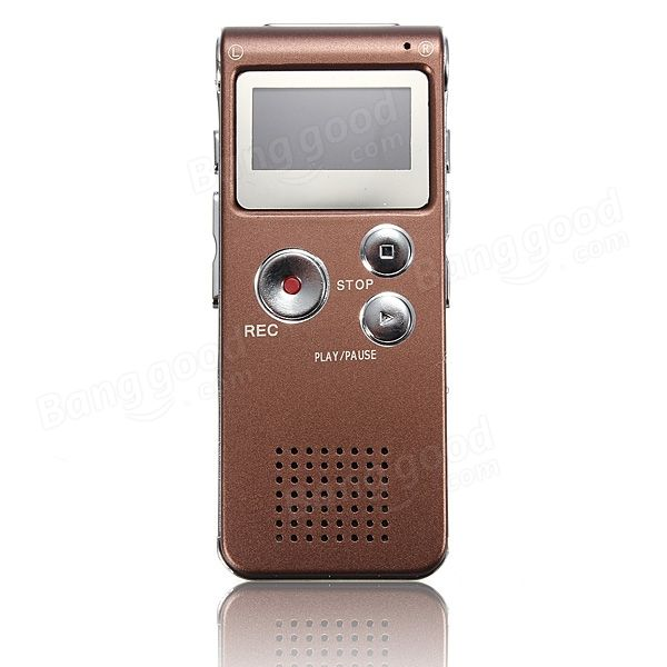 Steal Rechargeable 8GB 650HR Digital Audio Voice Recorder MP3 Player - US$15.84