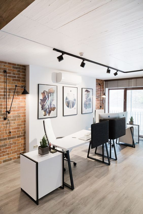 industrial look office interior design. let the natural light shine in your office use track lighting for subtle area industrial look interior design