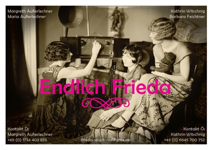 Flyer design for Frieda, an all-female Austro-German vintage band