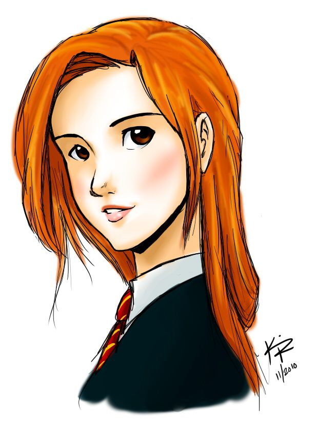 Ginny Weasley by ~kra (I like this ginny look)