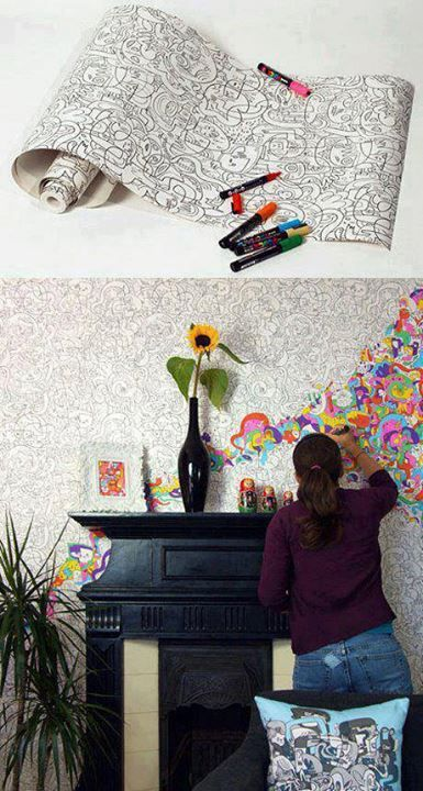 Creative Ideas For Home... I thought this was cute and wish I had thought about doing this when growing up. I loved coloring these.