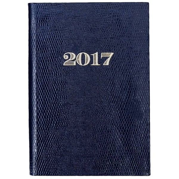 Sloane Stationery - 2017 Navy Blue Pocket Diary ($24) ❤ liked on Polyvore featuring home, home decor and stationery